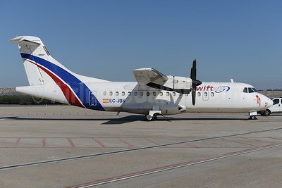 Swiftair (Spain) ATR 42-300 (F) EC-JBN (msn 218) MAD (Ton Jochems). Image: 936987.