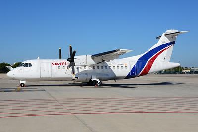 Swiftair (Spain) ATR 42-300 (F) EC-IVP (msn 231) PMI (Ton Jochems). Image: 933283.