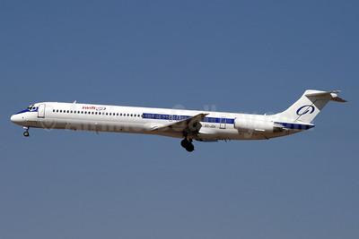 Swiftair (Spain) McDonnell Douglas DC-9-83 (MD-83) EC-JQV (msn 49526) (Realmadrid colors) MAD (Ariel Shocron). Image: 900269.
