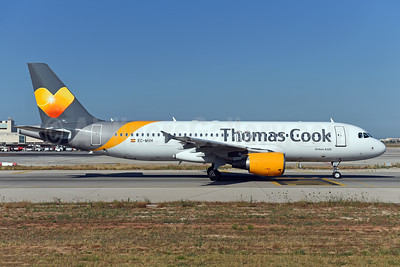 Thomas Cook Airlines (Balearics) Airbus A320-214 EC-MVH (msn 2142) PMI (Ton Jochems). Image: 942551.