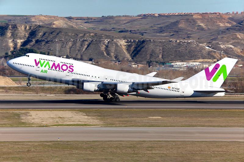 Wamos Air Boeing 747-412 EC-KQC (msn 26549) MAD (Greenwings). Image: 931227.