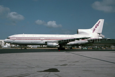 Air Ops (Air Operations of Europe) Lockheed L-1011-385-1 TriStar 1 SE-DSB (msn 1059) MIA (Bruce Drum). Image: 105573.