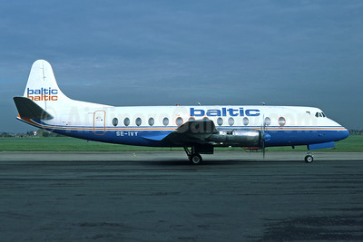 Baltic Airlines (Sweden) Vickers Viscount 815 SE-IVY (msn 375) SEN (Richard Vandervord). Image: 948714.