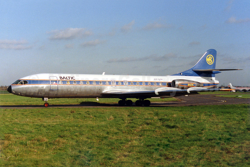 Baltic Airlines (Sweden) Sud Aviation SE.210 Caravelle 10B OY-STF (msn 257) SEN (Keith Burton). Image: 922572.