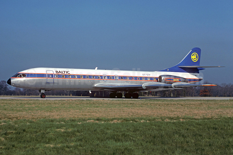 Baltic Airlines (Sweden) Sud Aviation SE.210 Caravelle 10B OY-STF (msn 257) LGW (Christian Volpati Collection). Image: 922571.