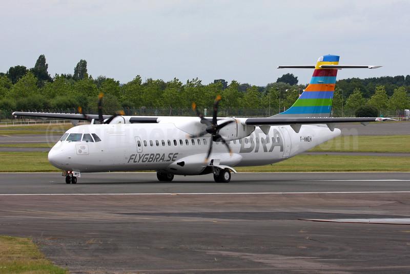 BRA-flygbra.se (Braathens Regional) ATR 72-212A (ATR 72-600) F-WWEH (SE-MKE) (msn 1348) FAB (SPA). Image: 934628.