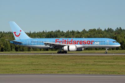Fritidsresor.se - Britannia Airways (Nordic) Boeing 757-236 SE-DUP (msn 24793) ARN (Ton Jochems). Image: 953434.