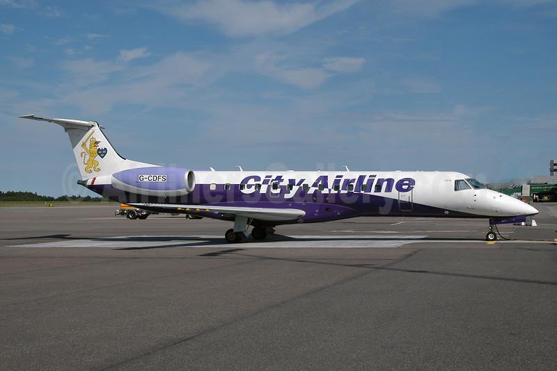 City Airline Embraer ERJ 135ER G-CDFS (JetMagic colors) AMS (Ton Jochems). Image: 902402.