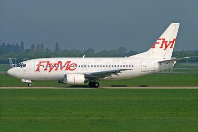 FlyMe (Sweden) Boeing 737-5Q8 LY-AZW (msn 27629) STN (Antony J. Best). Image: 935258.