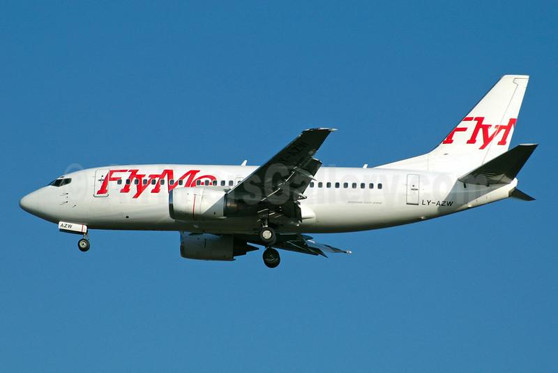 FlyMe (Sweden) Boeing 737-5Q8 LY-AZW (msn 27629) STN (Adam Rowden). Image: 935259.