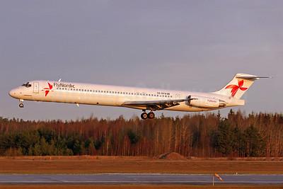 FlyNordic McDonnell Douglas DC-9-82 (MD-82) SE-RFD (msn 53244) ARN (Stefan Sjogren). Image: 940694.