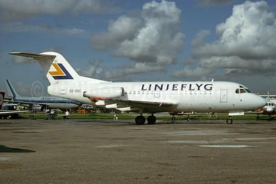 Linjeflyg Fokker F.28 Mk. 1000 SE-DGC (msn 11069) MIA (Bruce Drum). Image: 104558.