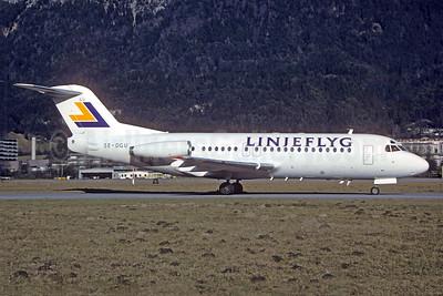 Linjeflyg Fokker F.28 Mk. 400 SE-DGU (msn 11241) INN (Christian Volpati Collection). Image: 925647.