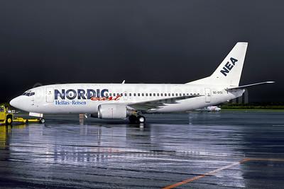 Nordic East Airways-NEA Boeing 737-3Q8 SE-DTA (msn 24068) (Hellas-Reisen) GOT (Tommy Mogren - Rob Rindt Collection). Image: 949331.