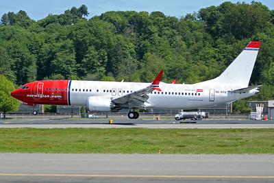 Norwegian.com (Norwegian Air Sweden) Boeing 737-8 MAX 8 SE-RTE (msn 42838) BFI (Joe G. Walker). Image: 947301.