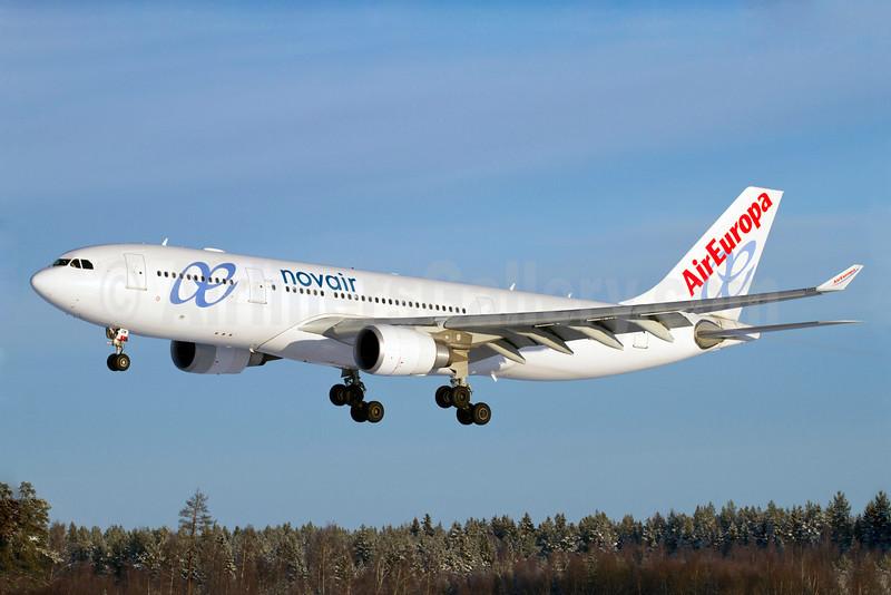 Novair (Sweden)-AirEuropa Airbus A330-202 EC-KOM (msn 931) (AirEuropa colors) ARN (Stefan Sjogren). Image: 905891.