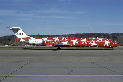 "Red version of 1996 ""planes"" special livery"