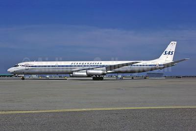 Scandinavian Airlines-SAS McDonnell Douglas DC-8-63 OY-KTF (msn 46041) CPH (Perry Hoppe). Image: 911397.