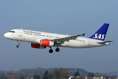 Scandinavian Airlines-SAS Airbus A320-232 OY-KAL (msn 2883) ZRH (Andi Hiltl). Image: 911965.