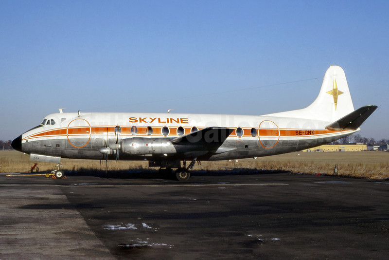 Skyline (Sweden) Vickers Viscount 784D SE-CNK (msn 227)(SM Fitzwilliams Collection). Image: 912464.