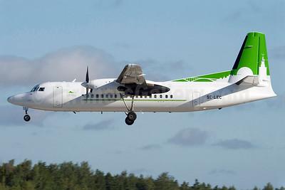 Skyways Express (Sweden) (Sverigeflyg) Fokker F.27 Mk. 050 SE-LEC (msn 20112) (Sverigeflyg colors) ARN (Stefan Sjogren). Image: 900892.