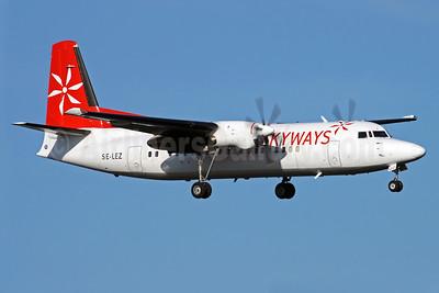 Skyways Express (Sweden) Fokker F.27 Mk. 050 (Fokker 50) SE-LEZ (msn 20128) ARN (Stefan Sjogren). Image: 905982.