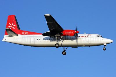 Skyways Express (Sweden) Fokker F.27 Mk. 050 (Fokker 50) SE-LIO (msn 20146) ARN (Stefan Sjogren). Image: 900890.