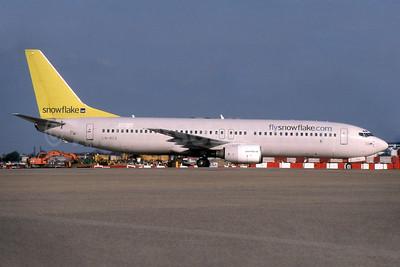 Snowflake (SAS) Boeing 737-883 LN-RCX (msn 30196) LHR (SPA). Image: 932762.