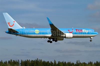 TUIfly Nordic Boeing 767-304 ER WL SE-RFS (msn 24040) (Environmentally Certified ISO 14001 logo) ARN (Stefan Sjogren). Image: 905024.