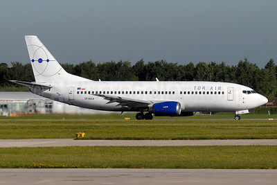 Tor Air (Small Planet Airlines) Boeing 737-322 SP-HAA (msn 24664) MAN (Paul Denton). Image: 934689.