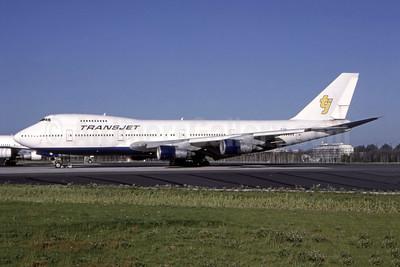 TransJet Airways (Sweden) Boeing 747-212B SE-RBH (msn 21316) ARN (Nico G.J. Roozen - Bruce Drum Collection). Image: 944422.