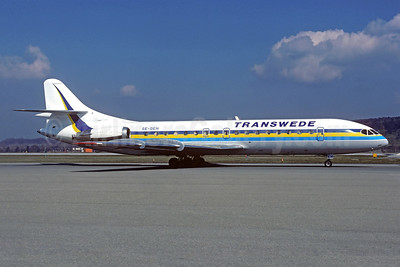 Transwede Airways (1st) Sud Aviation SE.210 Caravelle 10B3 SE-DEH (msn 188) ZRH (Christian Volpati Collection). Image: 936893.