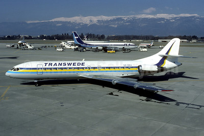 Transwede Airways (1st) Sud Aviation SE.210 Caravelle 10B3 SE-DEH (msn 188) GVA (Jacques Guillem Collection). Image: 936894.