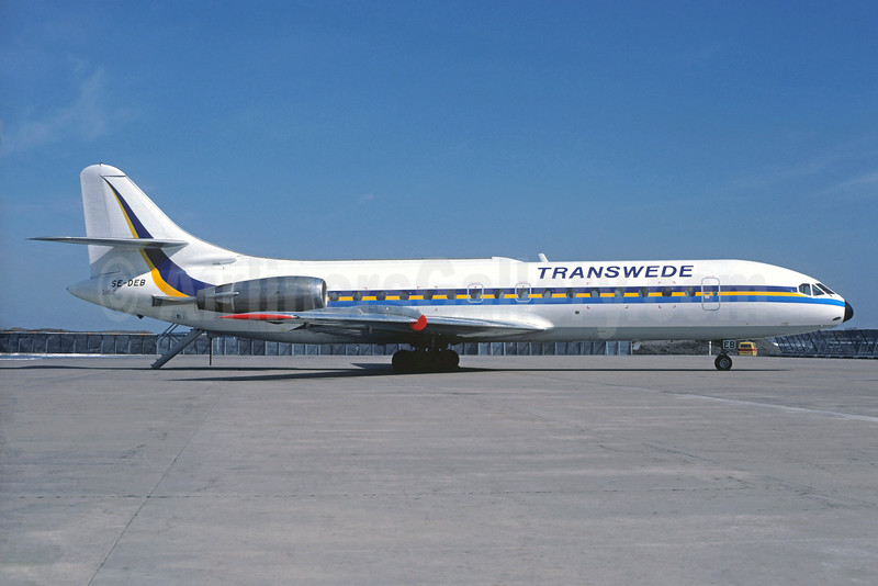 Transwede Airways (1st) Sud Aviation SE.210 Caravelle 10B1R SE-DEB (msn 247) ARN (Christian Volpati Collection). Image: 931342.