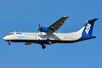 ASL Airlines (Switzerland) ATR 72-202 (F) HB-AFX (msn 265) BSL (Paul Bannwarth). Image: 934180.