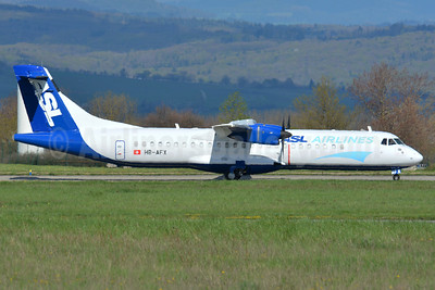 ASL Airlines (Switzerland) ATR 72-202 (F) HB-AFX (msn 265) BSL (Paul Bannwarth). Image: 932452.