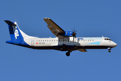ASL Airlines (Switzerland) ATR 72-212 (F) HB-ACE (msn 577) BSL (Paul Bannwarth). Image: 932541.