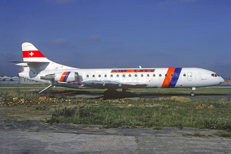 Air City Sud Aviation SE.210 Caravelle 10B3 HB-ICJ (msn 169) ORY (Christian Volpati Collection). Image: 926194.