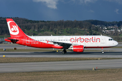 Airberlin (airberlin.com) (Belair Airlines) Airbus A320-214 HB-JOZ (msn 4631) ZRH (Andi Hiltl). Image: 911968.