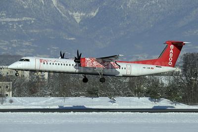 Baboo Airways (Flybaboo.com) Bombardier DHC-8-402 (Q400) HB-JQB (msn 4175) GVA (Paul Denton). Image: 922469.