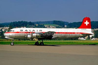 Balair Cargo (2nd) Douglas C-54A-DO (DC-4) HB-ILD (msn 42995) ZRH (Jacques Guillem Collection). Image: 950222.
