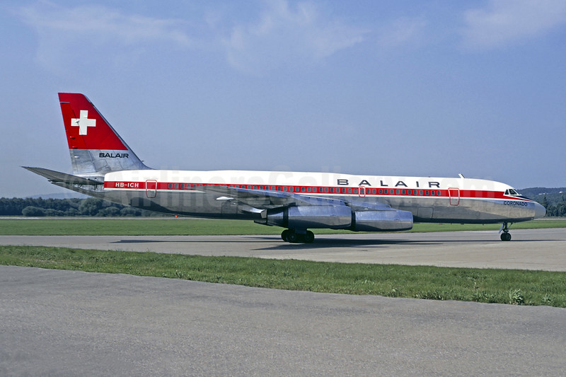 """""""Coronado"""", leased from Swissair from March 1968 to March 1971"""