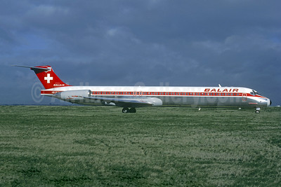 Balair (2nd) McDonnell Douglas DC-9-83 (MD-83) HB-INW (msn 49569) ORY (Jacques Guillem). Image: 947016.