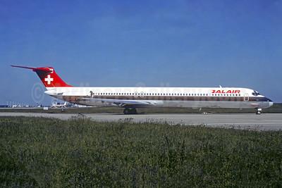 Balair (2nd) McDonnell Douglas DC-9-82 (MD-82) HB-INR (msn 49277) ORY (Jacques Guillem). Image: 950221.