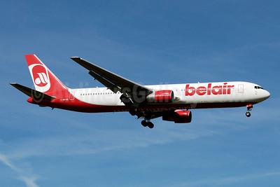Belair Airlines (airberlin.com) Boeing 767-3Q8 ER HB-ISE (msn 27600) ZRH (Paul Denton). Image: 903399.