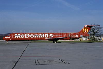 Crossair McDonnell Douglas DC-9-83 (MD-83) HB-IUH (msn 53150) (Hotelplan - McDonald's)  ZRH (Rolf Wallner). Image: 926382.