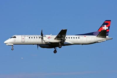 Darwin Airline SAAB 2000 HB-IZZ (msn 048) (S. Pelegrino) ZRH (Andi Hiltl). Image: 909308.