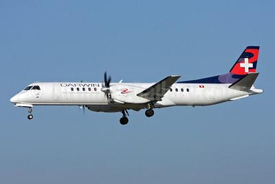 Darwin Airline SAAB 2000 HB-IZJ (msn 015) ZRH (Andi Hiltl). Image: 909307.