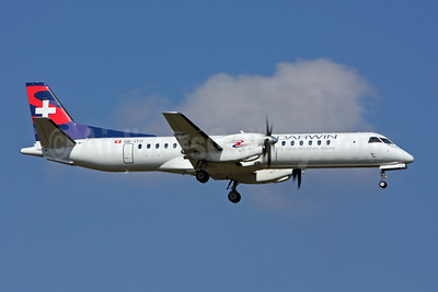 Darwin Airline SAAB 2000 HB-IYD (msn 059) ZRH (Andi Hiltl). Image: 907312.