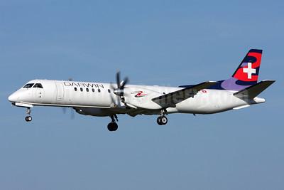 Darwin Airline SAAB 2000 HB-IZW (msn 039) ZRH (Andi Hiltl). Image: 913535.